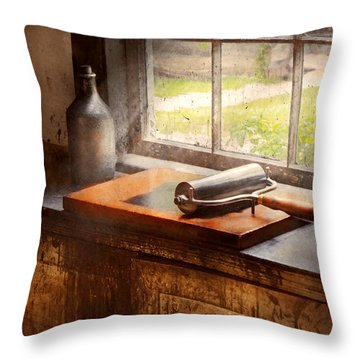 Printer - A Hope And A Brayer Throw Pillow by Mike Savad