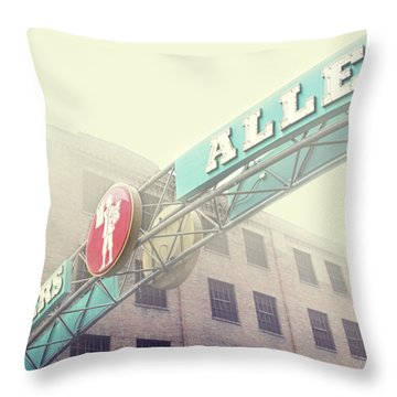 Printers Alley Throw Pillow by Amy Tyler