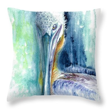 Throw Pillow featuring the painting Priscilla by Ashley Kujan