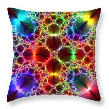 Prism Bubbles Throw Pillow by Tammy Wetzel