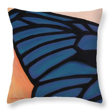 Prismatic Wing Throw Pillow