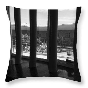 Prison Cell View Throw Pillow by Aidan Moran