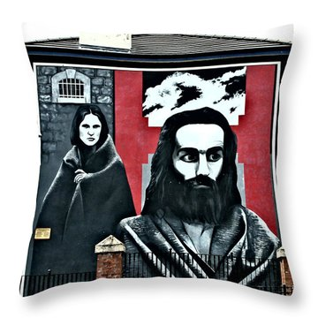 Prison Protest Throw Pillow by Nina Ficur Feenan