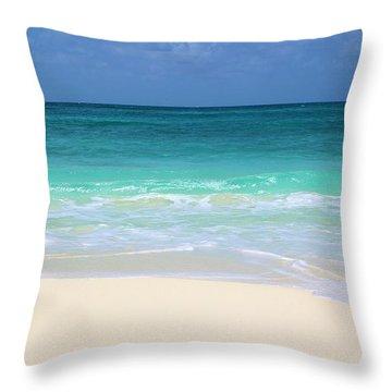 Pristine Beach Cancun Throw Pillow