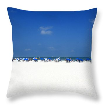 Pristine Clearwater Throw Pillow