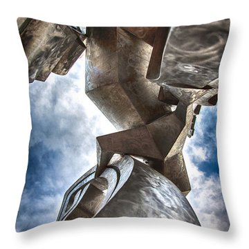Pritchard Park Art Is Looking Up Throw Pillow