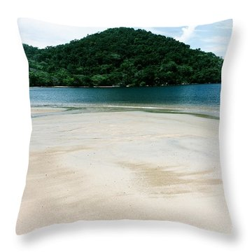 Private Beach Throw Pillow
