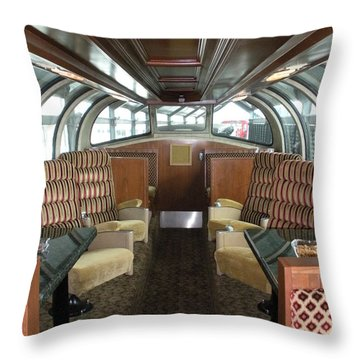 Private Dome Rail Car  Throw Pillow