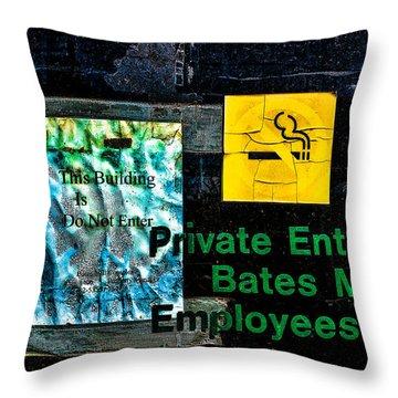 Private Entrance Throw Pillow by Bob Orsillo
