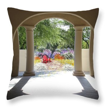 Private Garden Throw Pillow by Kume Bryant