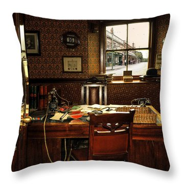Private Throw Pillow by Svetlana Sewell