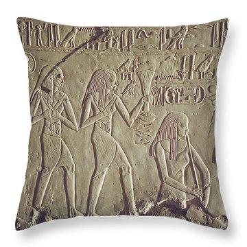 Private Tomb Of Kheruef Kheruf Cheriuf Tt 192 Asasif-stock Image-fine Art Print-valley Of The Kings Throw Pillow