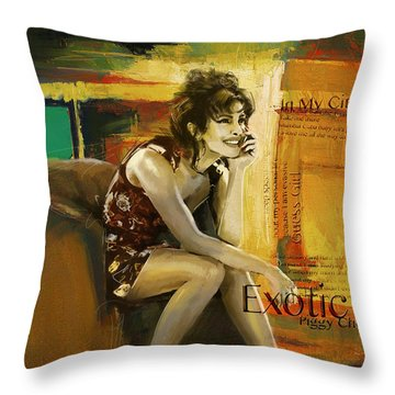 Priyanka Chopra Throw Pillow by Corporate Art Task Force