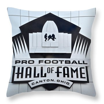 Pro Football Hall Of Fame Throw Pillow by Frozen in Time Fine Art Photography