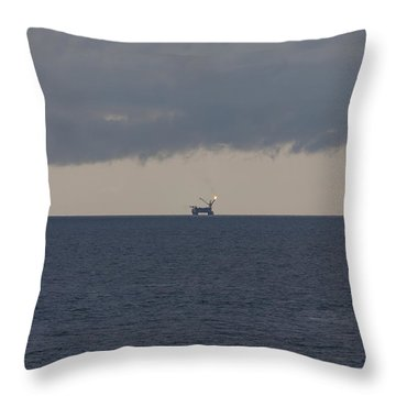Production Platform Offshore Equatorial Guinea Throw Pillow by Gregory Daley  PPSA