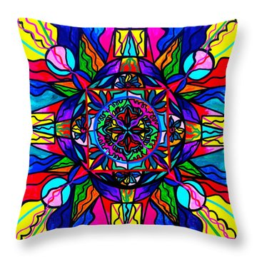 Productivity  Throw Pillow by Teal Eye  Print Store