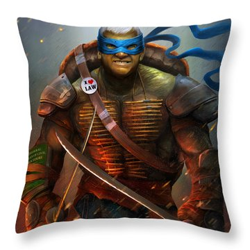 Professor In A Half Shell Throw Pillow