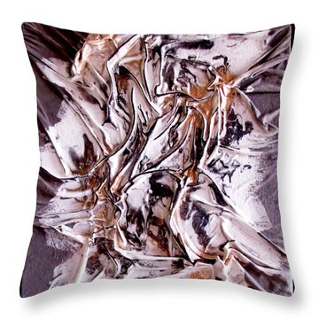 Profile Abstracted Throw Pillow