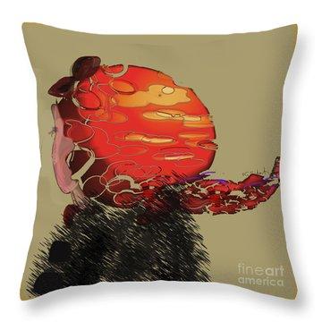 Throw Pillow featuring the digital art Profile by Gabrielle Schertz