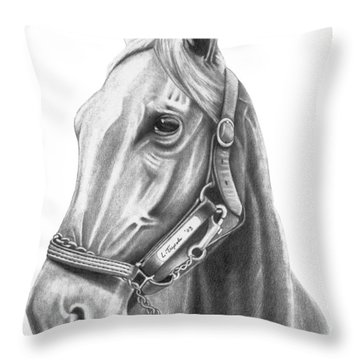 Profile Throw Pillow by Lawrence Tripoli