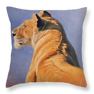 Throw Pillow featuring the digital art Profile Of A Queen by Aaron Blaise