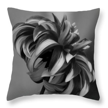 Profile Of Not Santa Two In Black And White Throw Pillow