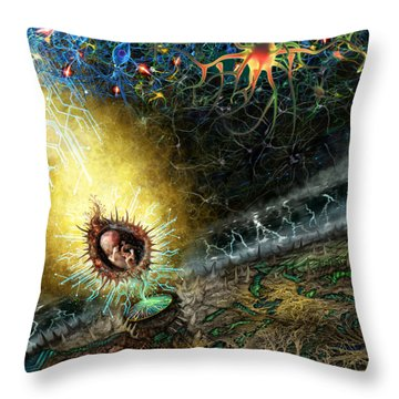 Programmable Evolution  Throw Pillow