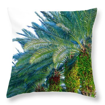 Throw Pillow featuring the photograph Progression Of Palms by Joy Hardee