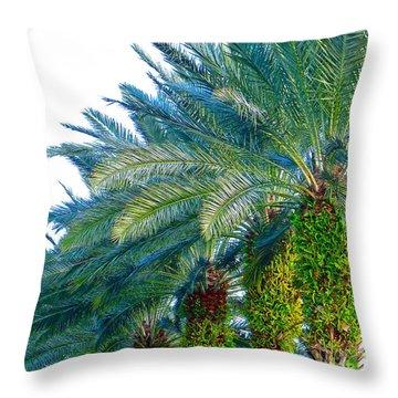 Progression Of Palms Throw Pillow by Joy Hardee