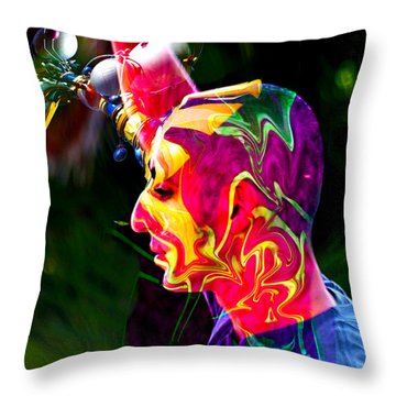 Progressive Thinking Throw Pillow by Camille Lopez