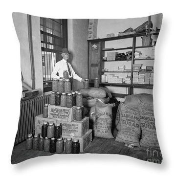 Prohibition 1920s Throw Pillow by Granger