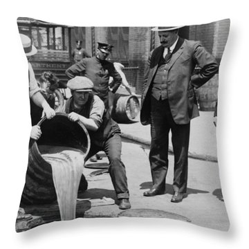 Prohibition In The Usa Throw Pillow