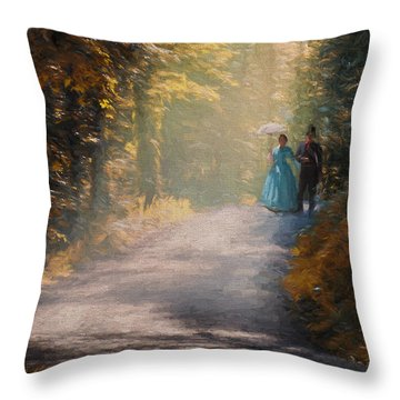 Promenade D'antan Throw Pillow