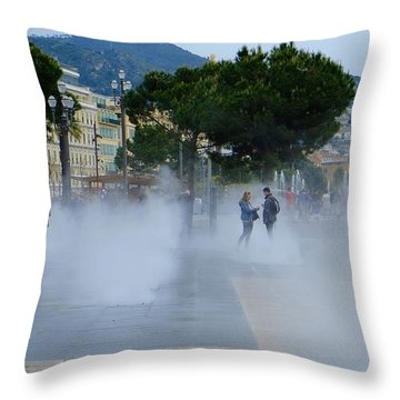 Promenade Des Arts Nice Throw Pillow