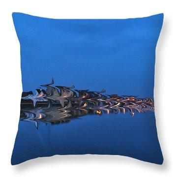 Promenade In Blue  Throw Pillow