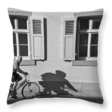 Promenade Of A Shadow Throw Pillow by Jean-Pierre Ducondi