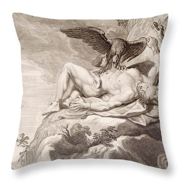 Prometheus Tortured By A Vulture Throw Pillow