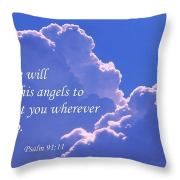 Promise Of Protection Throw Pillow by Robert ONeil