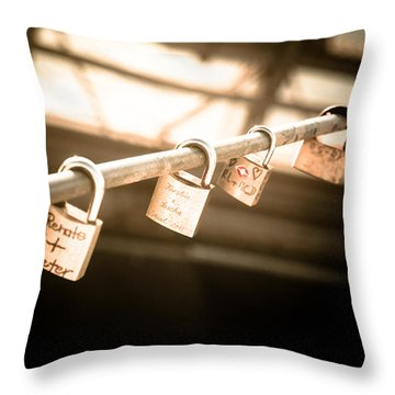 Throw Pillow featuring the photograph Promises We Made by Peta Thames