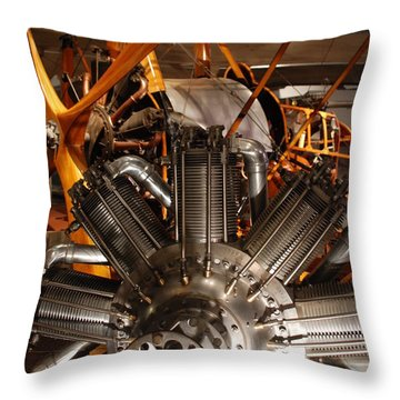 Prop Plane Engine Illuminated Throw Pillow