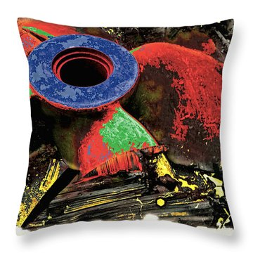 Propellor  Throw Pillow by Mauro Celotti