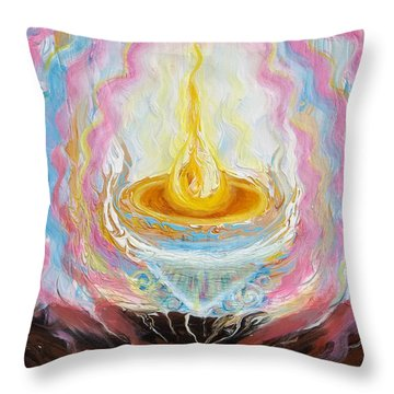Prophetic Message Sketch Painting 27 It Takes One Person Throw Pillow