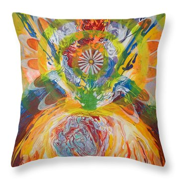 Prophetic Message Sketch Painting 5 Esh Oklah El Kanna Throw Pillow