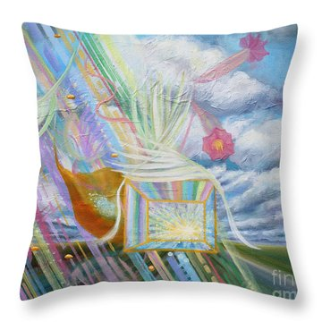 Prophetic Ms 39 Praise And The Festival Of Booths/feast Of Tabernacles Throw Pillow