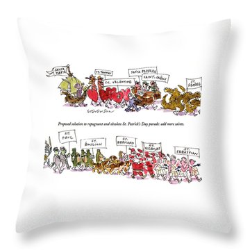 Saint Barbara Throw Pillows