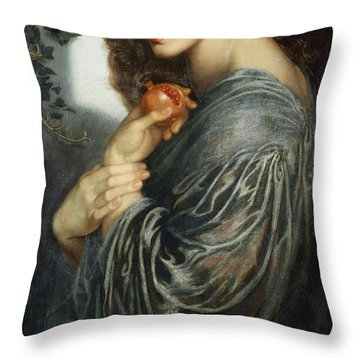 Proserpine Throw Pillow by Dante Charles Gabriel Rossetti