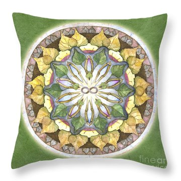 Prosperity Mandala Throw Pillow