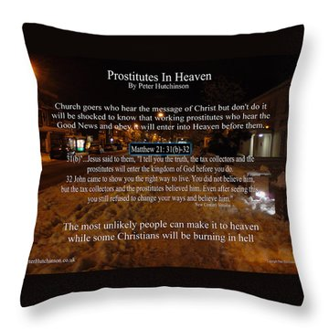 Prostitutes In Heaven Throw Pillow
