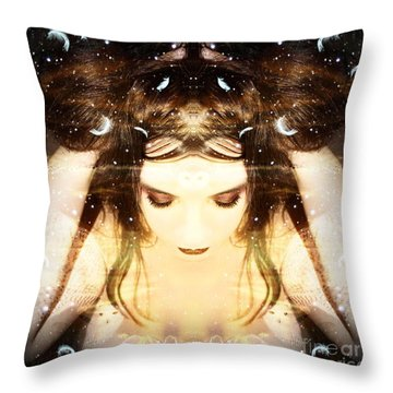 Protected Within Throw Pillow