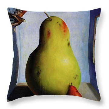 Protecting Baby 5 Throw Pillow by Leah Saulnier The Painting Maniac